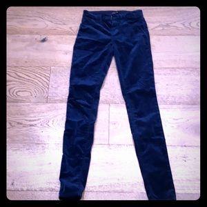 Jbrand navy velvet skinny jeans -24